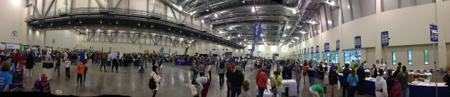 A panorama of the race expo