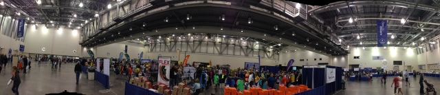 Another panorama of the race expo