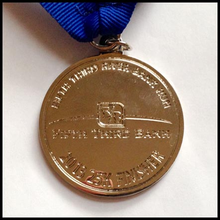 The back of the finisher's medal